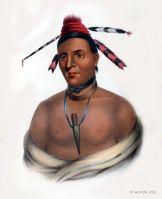 MAR-KO-ME-TE or Bears Oil a Menomnie Brave. Indigenous American peoples. Native Americans costumes.