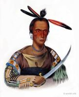 TO-CA-CON, Sioux Chief. Indigenous American peoples. Native Americans costumes.
