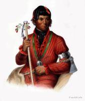 Tshi-Zun-Hau-Kau, a Winebago Warrior. American native.