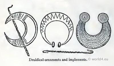 Celtic Druidical Jewellery, decoration gauls