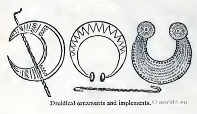 Celtic Druidical Jewellery, decoration gauls
