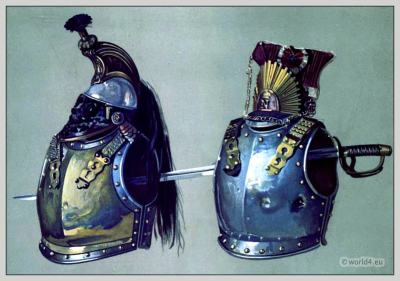 Waterloo cuirasses. Waterloo battle. Emperor Napoleon I. Army.