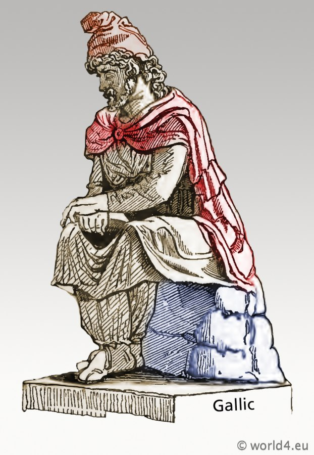 Ancient, Gallic, gaul, costumes, clothing