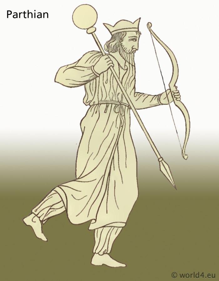 Ancient, Parthian, costumes, clothing, Arsacid, dresses