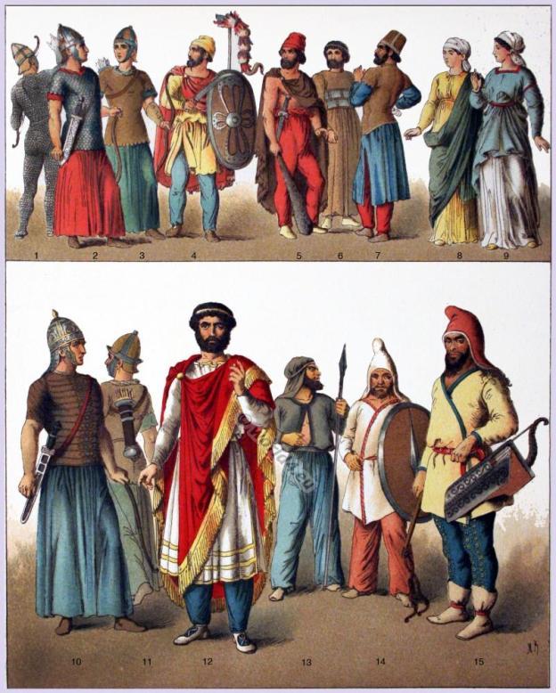 Ancient costumes history. Sarmatians clothing, Soythians Armor, Dacian warrior armor. Sarmatian Prince dress.