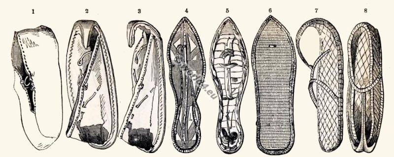 Egyptian fashion history, shoes, sandals, Egypt, foot wear,