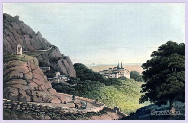Historical Portugal landscape. Landscape of Sintra - UNESCO World Heritage. Peninsula war.