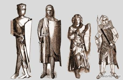 England knights middle ages. Medieval weapons and armor.
