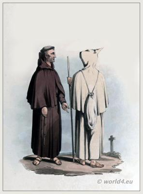 Franciscan, order, Monastic, costumes, monk, costume
