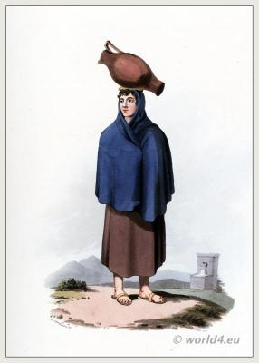 Traditional Portuguese costumes. Guarda woman dress and clothing