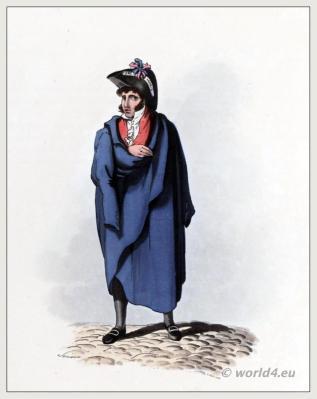 Historical Lisbon clothing. Traditional Portuguese national costumes. Peninsula war.