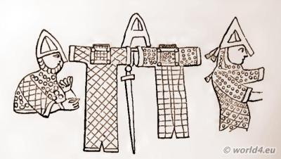 England Medieval knights weapons and armor. Norman conquest of England. Middle Ages chivalry swords