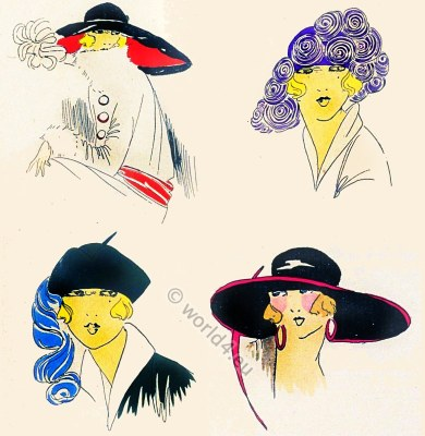 Chapeaux, Très Parisien, Art-deco, flapper, roaring twenties, fashion,