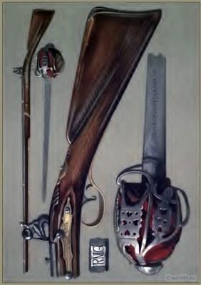 Rob Roy.  Andrea Ferrara blade. Old flint-lock gun. Old Highland Broadsword. Andrea Ferrara blade. Andrew Ferrara Broadsword