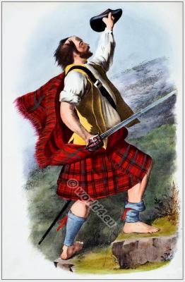 Mac Dhubhich, Mac Duffs.The Clans of the Scottish Highlands. Scottish kilts, tartans. Traditional Scottish National Costume.