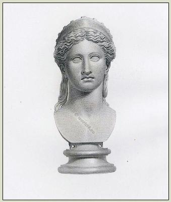 Juno, Ancient Roman, Headdress, diadem, Goddess