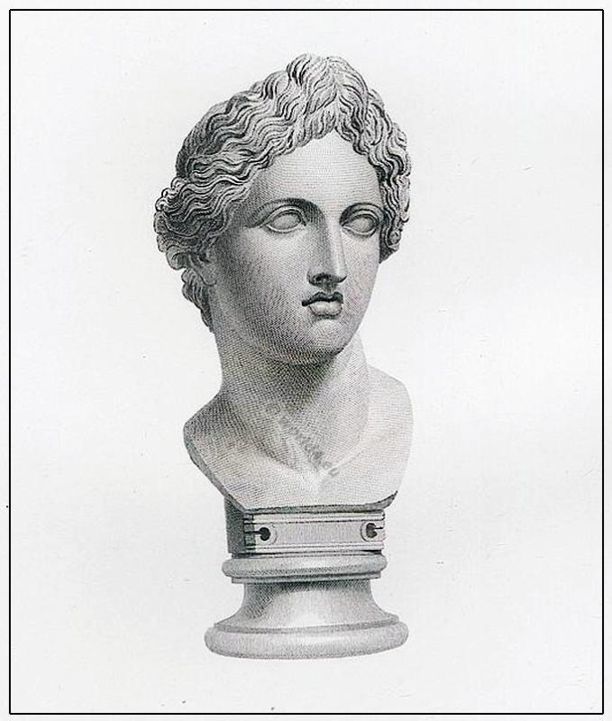 Apollo, Greek, Bust, goddess, diadem, ancient, Marbles, British Museum,