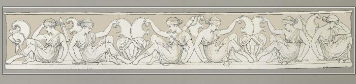 Group. Amazons. Sarcophagus. Ancient Greece. female soldiers