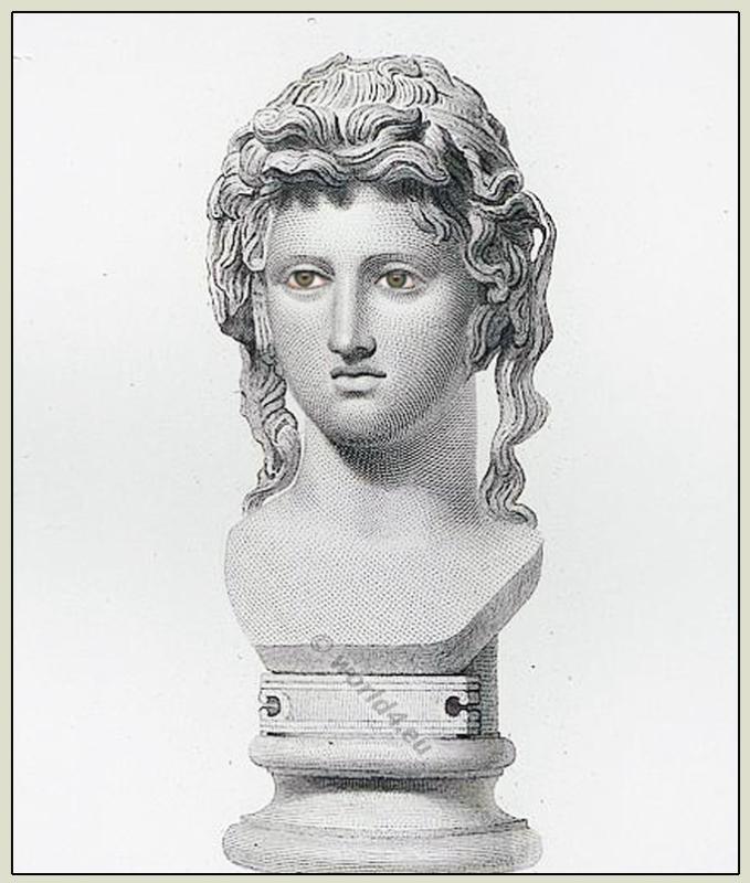 Bacchante,Bacchus, Maenad, Ancient Greek, Bust, British Museum