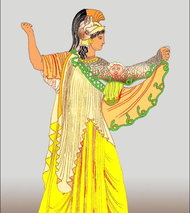Greece chiton costume. What Does Ancient Greek Goddess Athene wear. Pallas Athena costume. Greek helmet