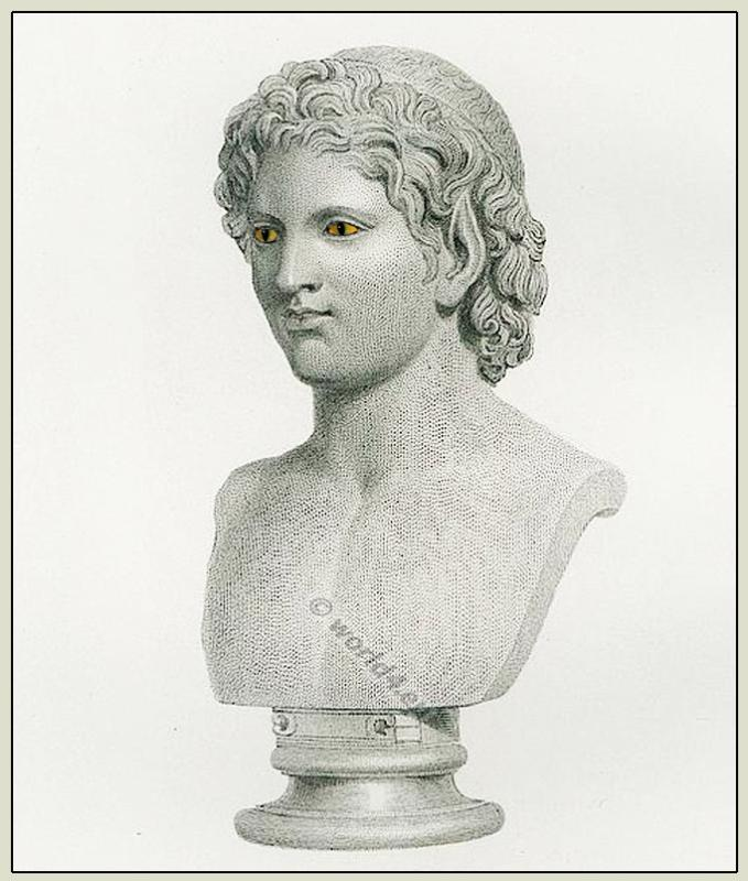 Satyr, bust, sculpture, Goddess, ancient, Marbles, British Museum
