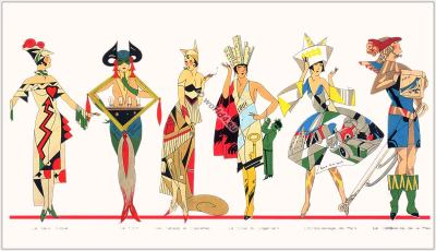 France Travestis 1930. Les Parfums. Art deco perfume flacons, Fantasy Transvestites Costumes