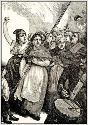 Paris Commune, Vengereuses Parisian communards, Federates, Pétroleuses