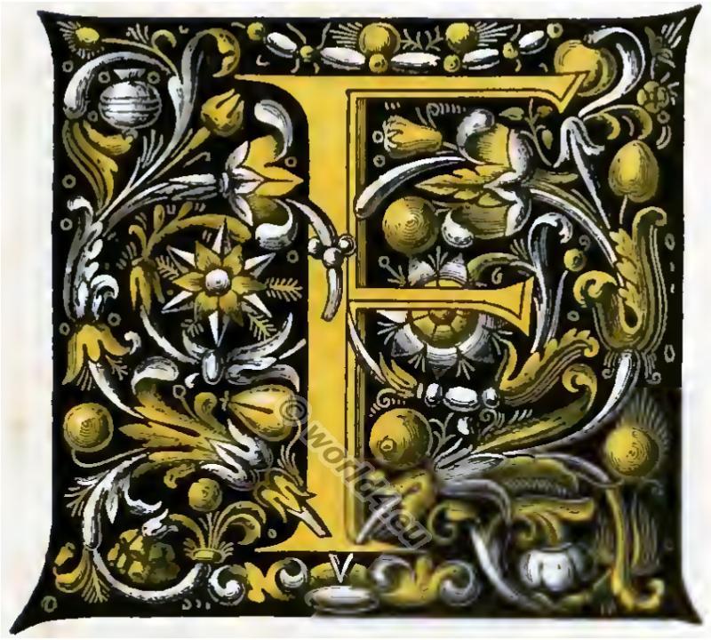 Initial, Noctes Atticæ of Aulus Gellius, drop-cap, Middle ages, Medieval manuscript, gothic knighthood