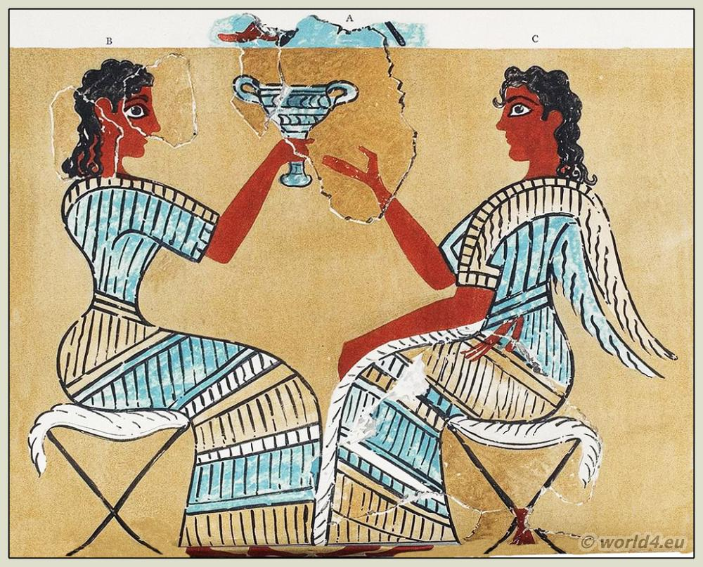 the role of women in minoan Mycenaean civilization: the minoan and mycenaean peoples of crete and the aegean developed gold beads of great originality and beauty in the shapes of polyps.