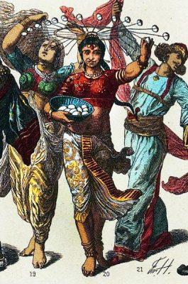 Indian dancer. Nautch dance costume