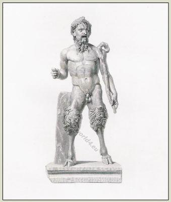 Ancient greek clothing. Antique Greece Goddess Pan