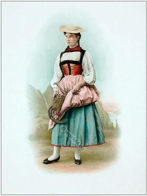 Canton Bern Switzerland, Suisse costumes nationaux. Costumes suisses. Switzerland national costumes.