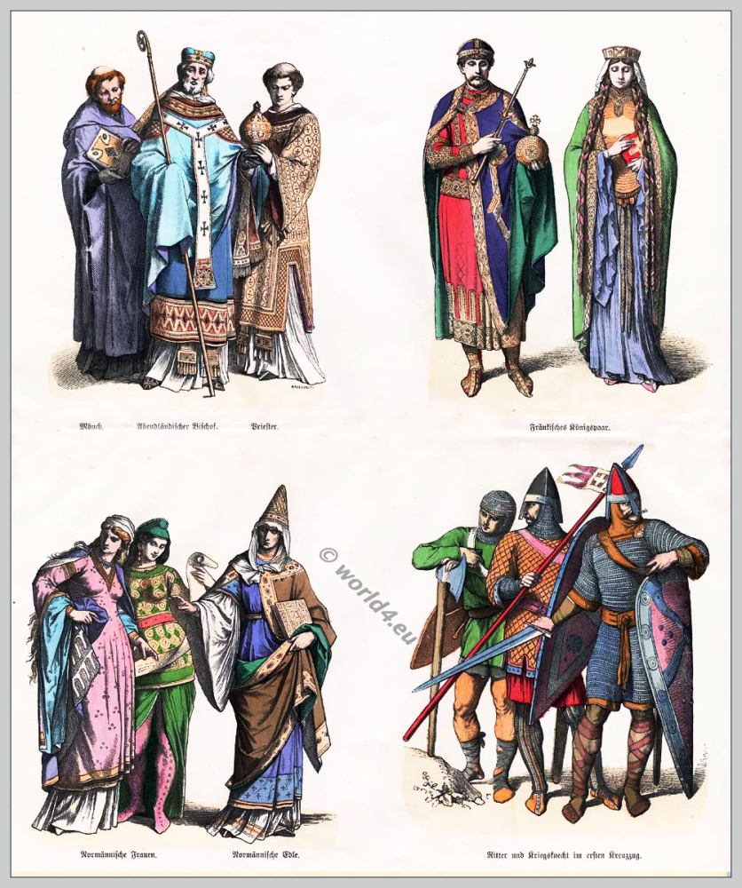 The Norman Fashion Period England 1066 1154 Costume