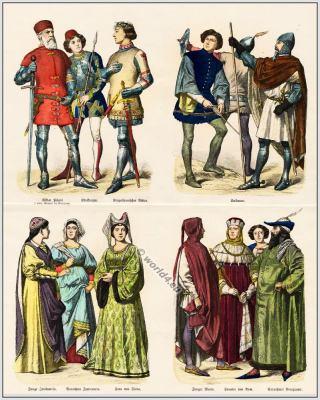 Medieval Italian 14th century clothing