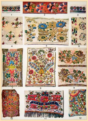 Traditional Greek embroidery patterns. Old Greece silk needle work. traditional fabrics design