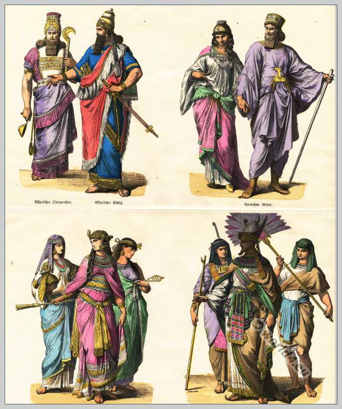 Assyrian, Egyptians and Medes costumes in pre-Christian ...