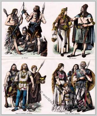 Ancient Teutons costumes