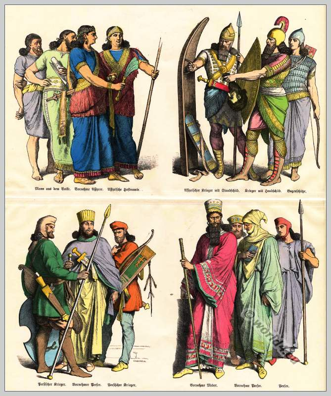 Costumes of Assyrians, Medes and Persians in ancient times ...
