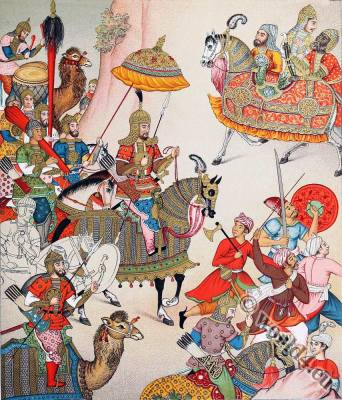 Mughal emperor Babur. Ẓahīr-ud-Dīn Muḥammad. India Military costumes