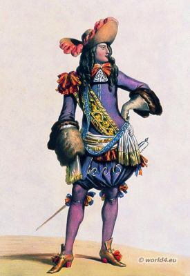 French Lord. 17th century. Baroque clothing. France Nobility. French musketeer costume.