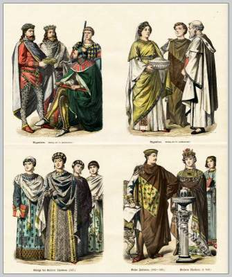 Medieval Byzantine costumes