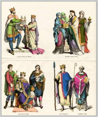 Medieval Frankish clothes of the 10th Century.
