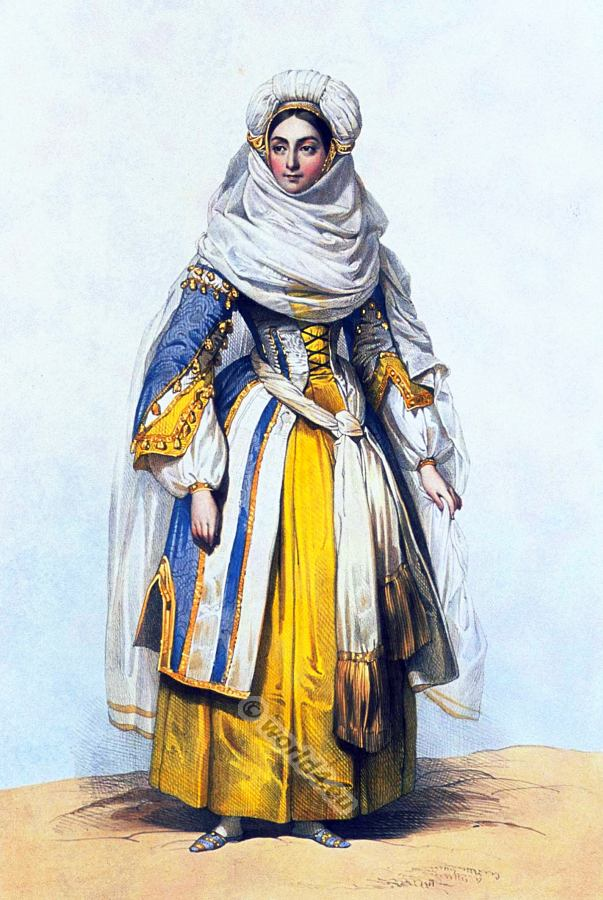 Cornélie Falcon as Rachel the jewees. Traditional Jewish Costume. Opera costumes and clothing-
