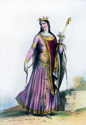 Saint Clotilde, Queen, Merovingian, Middle ages, clothing, Chrodechild, Chrodichild, Chrodechilde, Chrodigildis, Chlothilde, Clothilde, Klothilde