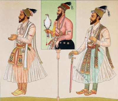 Moghul Emperor. Shah Alam.. Costumes. Auguste Razinet