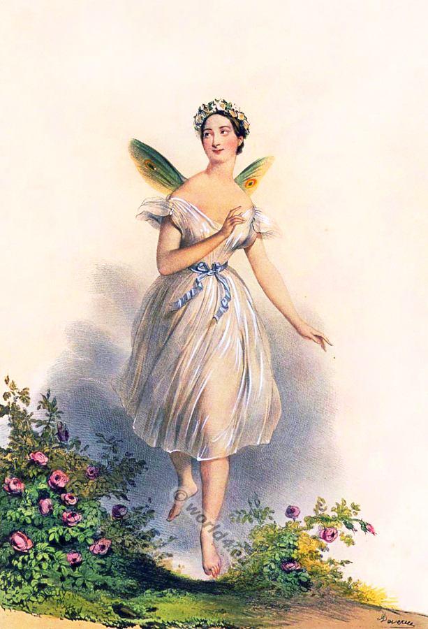 Marie Taglioni. Ballerina costume. Dance costumes.