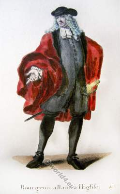 Swiss bourgeois men fashion. Switzerland Baroque costume recherche. 17th century clothing