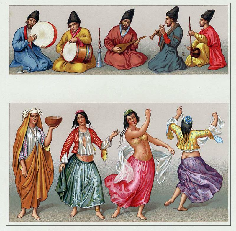 the motrebs persian dancer and musicians 16th century
