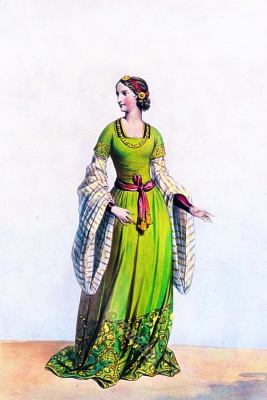 Lady of Florence. Renaissance costume. Middle ages fashion. Medieval Character design