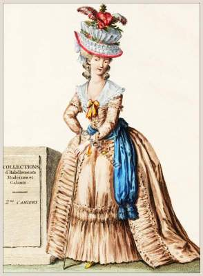 Coiffure, Chapeau, Corbeille, Louis XVI, Court dress, Rococo, fashion history, 18th century